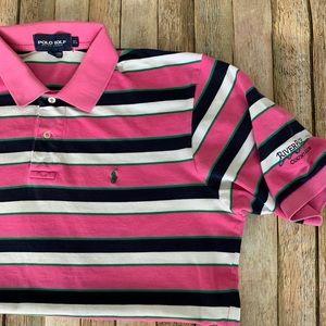 Polo Golf Ralph Lauren striped pink XL polo